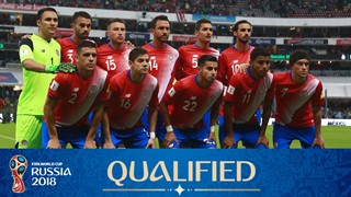 teamfoto voor Costa Rica