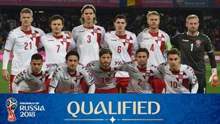 teamfoto voor Denemarken