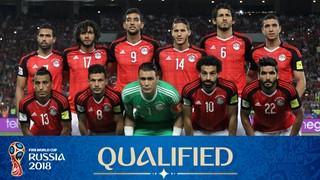 teamfoto voor Egypte
