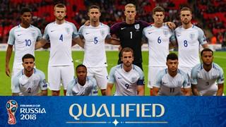 teamfoto voor Engeland