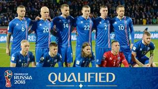 teamfoto voor IJsland