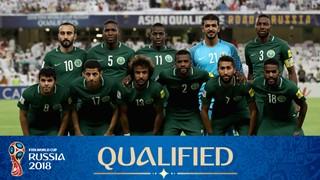 teamfoto voor Saoedi-Arabië