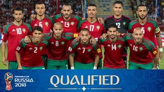 teamfoto voor Marokko