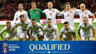 teamfoto voor Polen