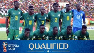 teamfoto voor Senegal
