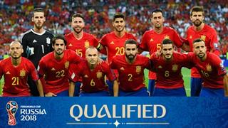 teamfoto voor Spanje